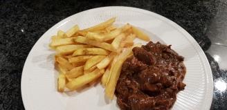 vlees en friet